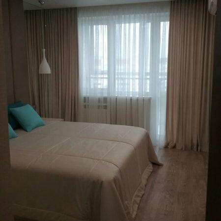 готовые шторы для спальни покрывало