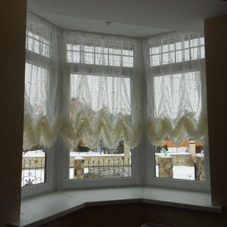 готовые шторы для кухни эркер