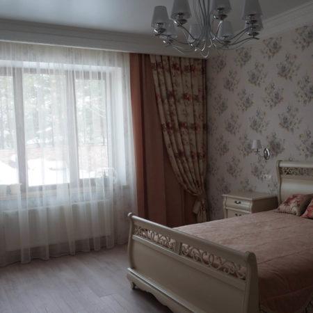 готовые шторы для спальни комплект