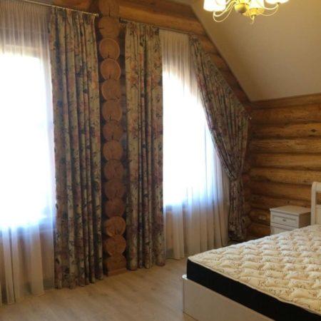 готовые шторы для спальни кантри