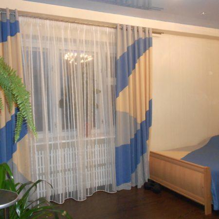 готовые шторы для спальни пошив