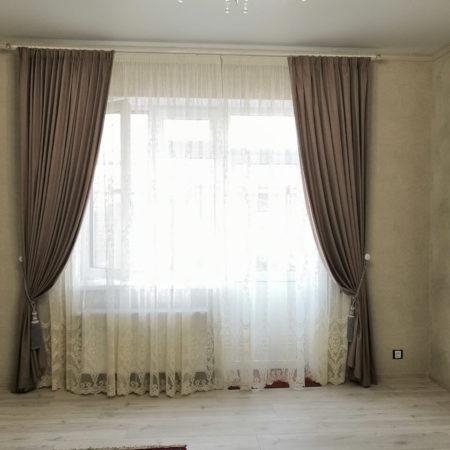 комплект готовые шторы для спальни