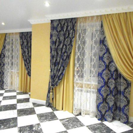 готовые шторы для гостиной кисти вышивка