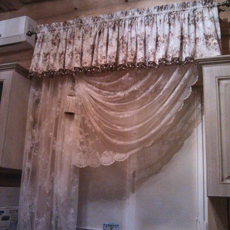 готовые шторы для кухни в стиле прованс