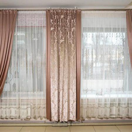готовые шторы для гостиной нежность