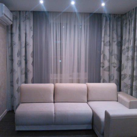 готовые шторы для гостиной угловой