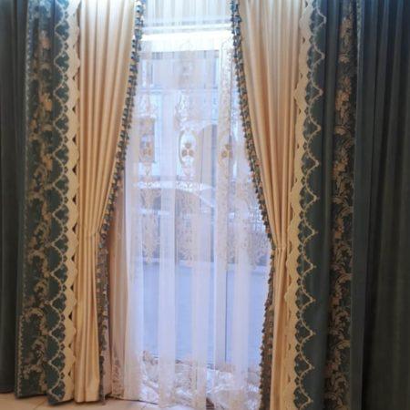 готовые шторы комплект для гостиной