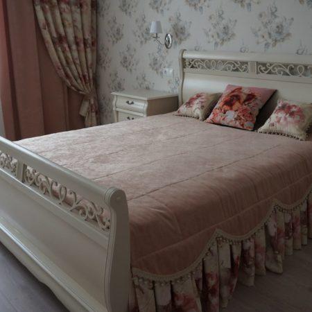 готовые шторы для спальни в стиле прованс