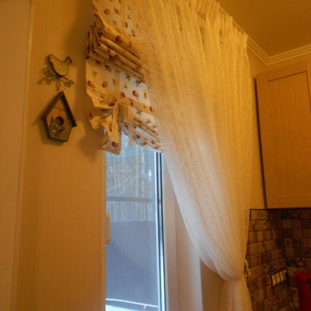 готовые шторы для кухни купить тюль