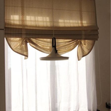 готовые римские шторы для кухни кантри стиль