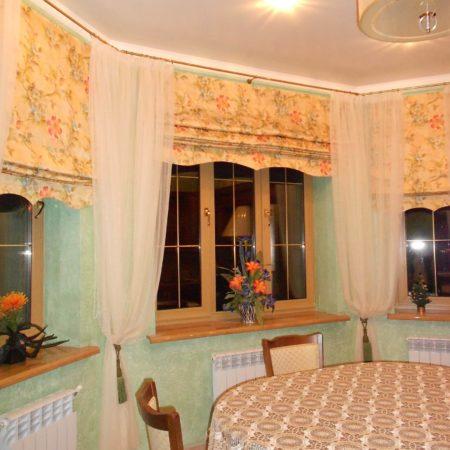 готовые шторы для кухни кантри эркер