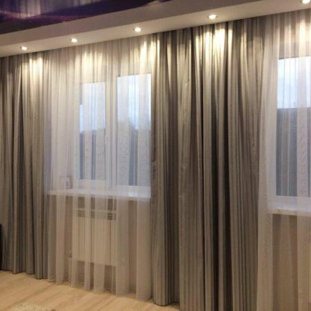 готовые шторы для гостиной на два окна