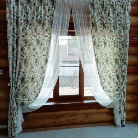 готовые шторы для кухни купить в комплекте