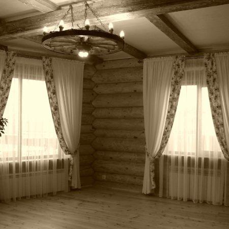 готовые шторы для гостиной роскошное кантри