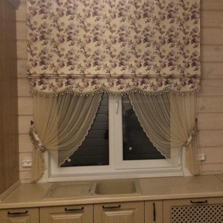 готовые шторы для кухни купить прованс
