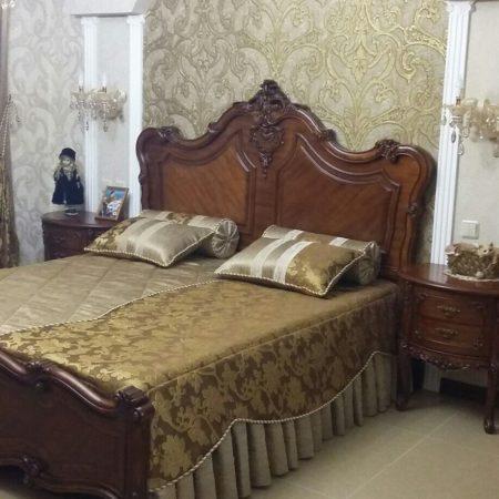 готовые шторы для спальни покрывало подушки комплект