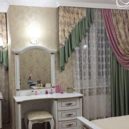 готовые шторы для спальни на два окна