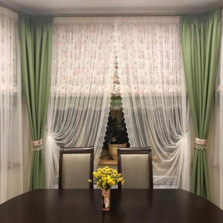 готовые шторы для кухни комплект