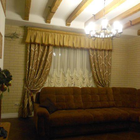 готовые шторы для гостиной ламбрекен