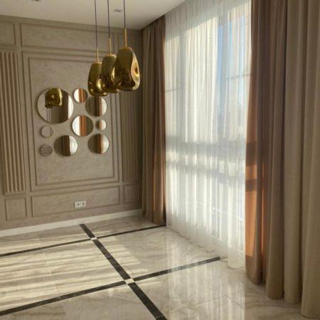 готовые шторы в гостиную шоколад