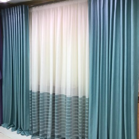 готовые шторы в гостиную бирюза