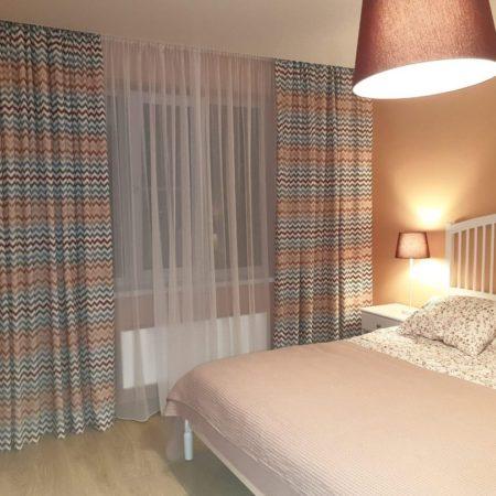 готовые шторы для спальни воздушные