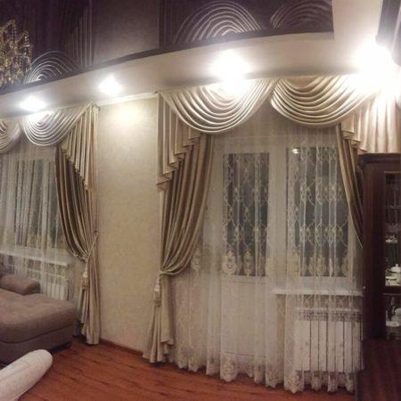 комплект готовые шторы для гостиной