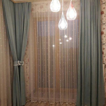 угол готовые шторы для спальни