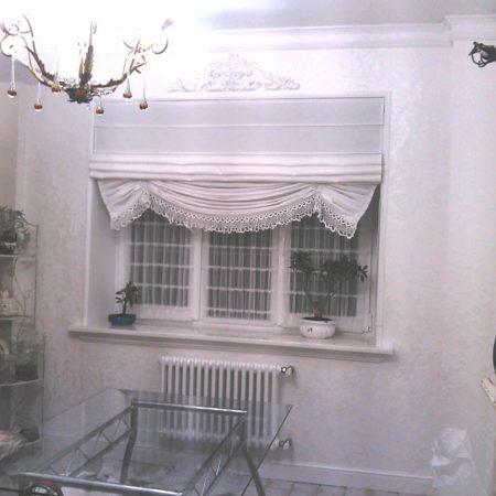 готовые шторы для кухни римские