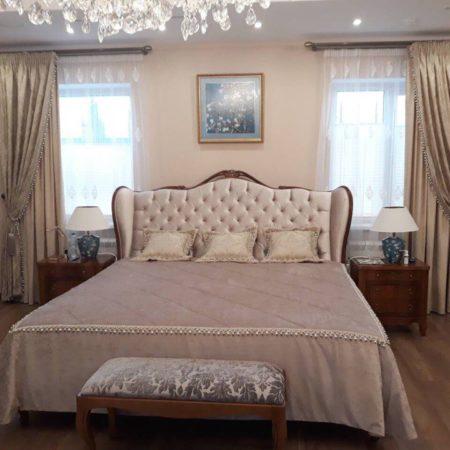 готовые шторы для спальни барокко