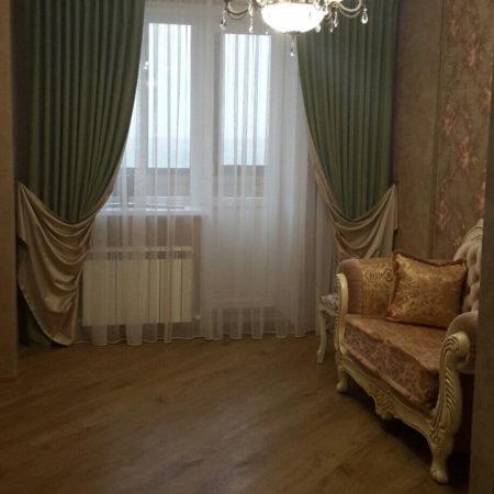 готовые шторы для гостиной классика