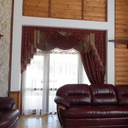готовые шторы на окна для гостиной