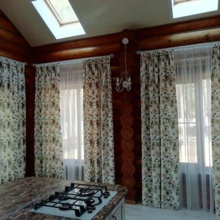 готовые шторы для кухни купить комплект