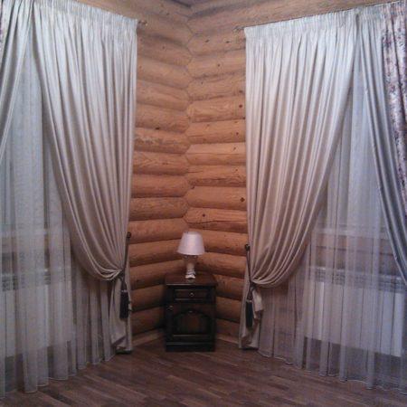готовые шторы для гостиной в стиле кантри