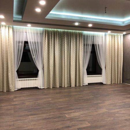 готовые шторы для большой гостиной