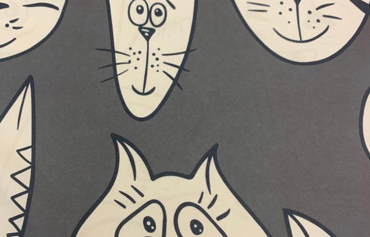 портьерные ткани котики