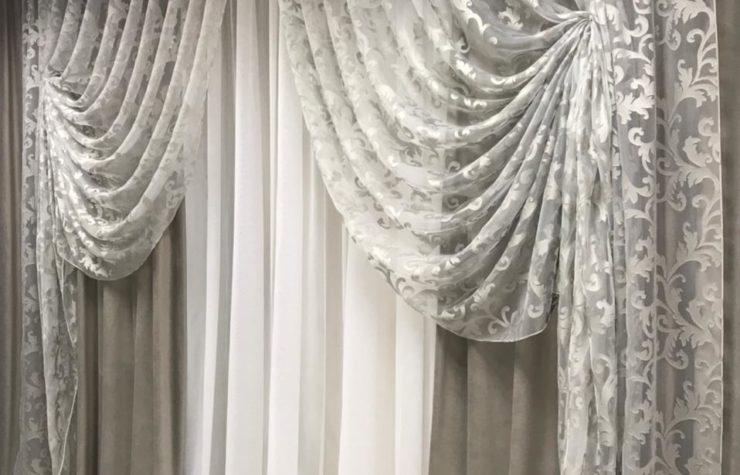 готовые шторы комплект драпировка