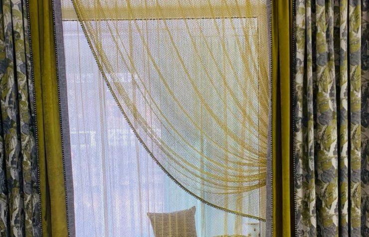 Комплект готовых штор Листья