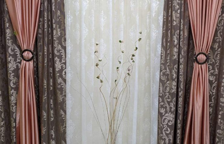 готовые шторы драпировка тюль вышивка