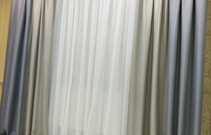 готовые шторы Блэкаут двухцветные