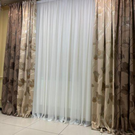 готовые шторы с цветами