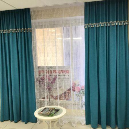 готовые шторы комплект тюль портьеры