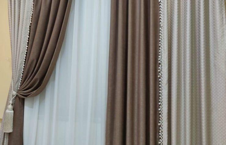 готовые шторы с бахромой стачные